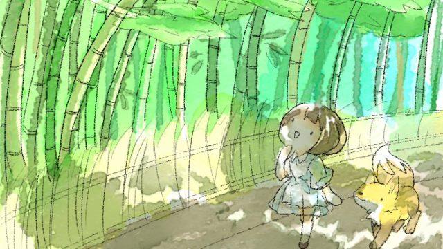 嵐山へ行く葵とマッチャ