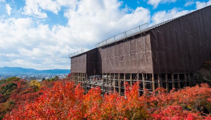 清水寺の本堂(舞台)平成の大改修中