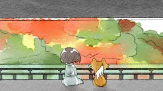 天龍寺へ行く葵とマッチャ