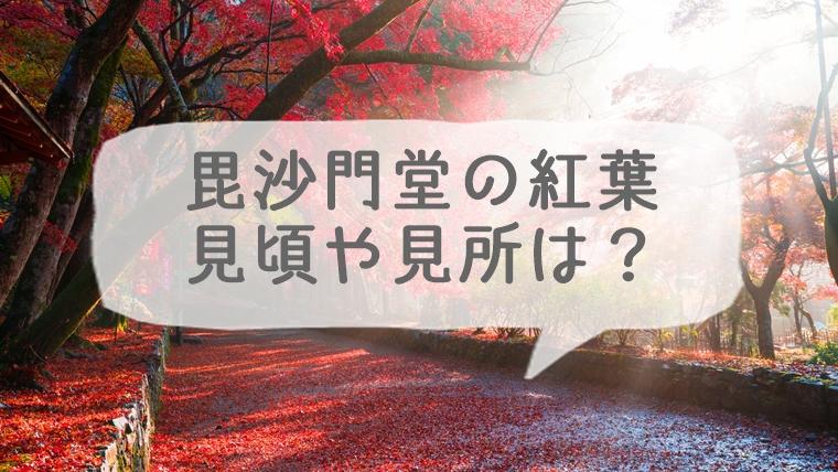 京都の毘沙門堂の紅葉の見ごろや見所