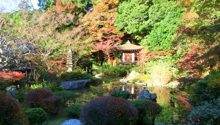 京都市山科区 毘沙門堂の庭園 晩翠園