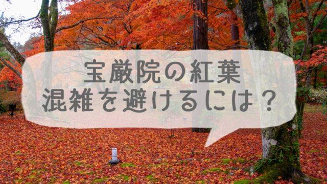 宝厳院の紅葉の混雑を避けるには?