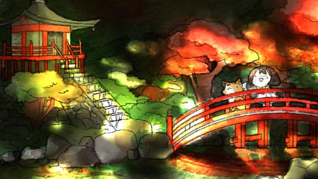 醍醐寺の紅葉を見に行く葵とマッチャ