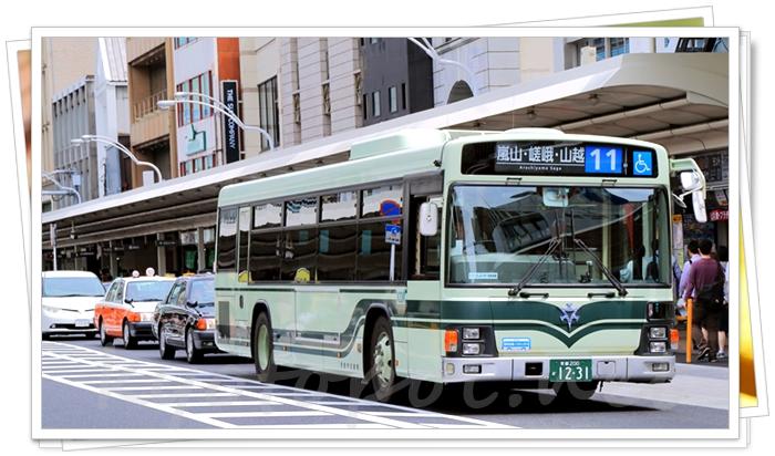 京都では路線バスを使う