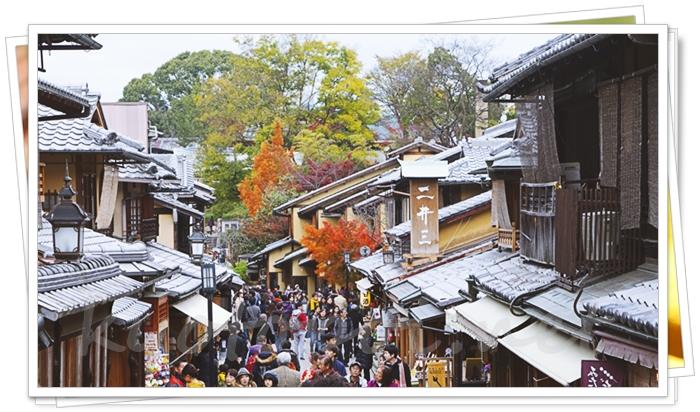 秋の京都の混雑ぶり