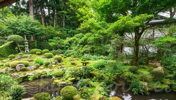 京都 大原の三千院の聚碧園
