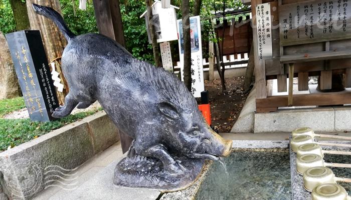 京都 護王神社の幸運の霊猪