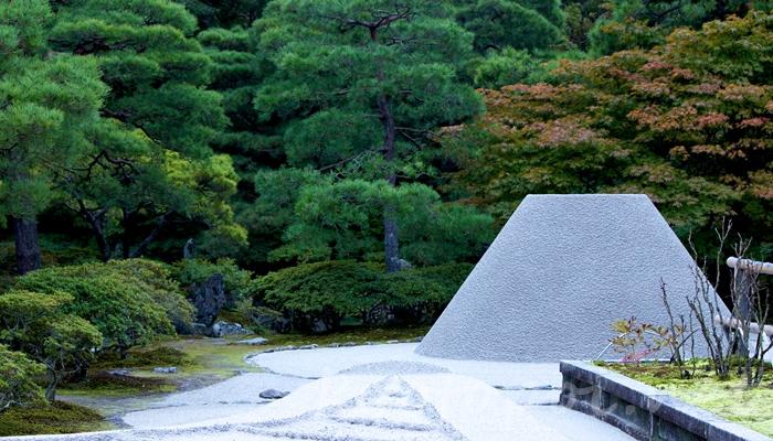 京都の世界遺産 銀閣寺(東山慈照寺)の枯山水(向月台と銀沙灘)