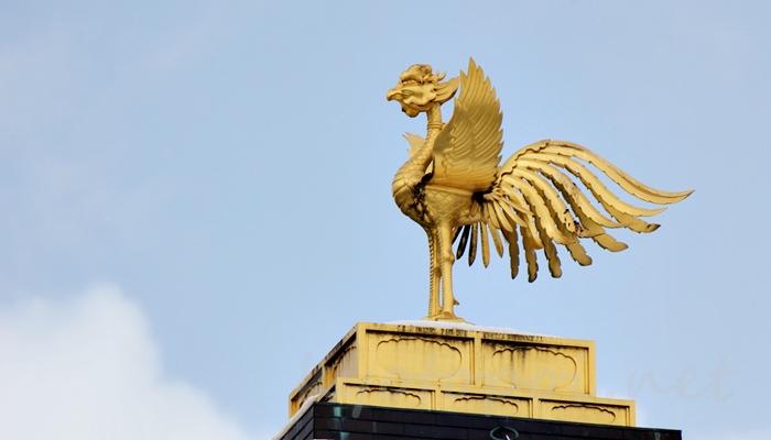 京都の世界遺産 金閣寺(鹿苑寺)の鳳凰