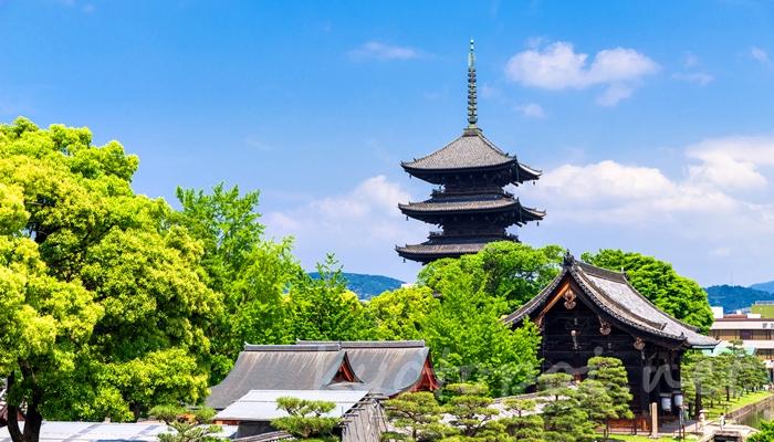 京都の世界遺産 東寺(教王護国寺)の五重塔