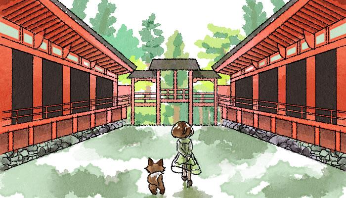 京都の世界遺産 比叡山延暦寺を散策する葵とマッチャ