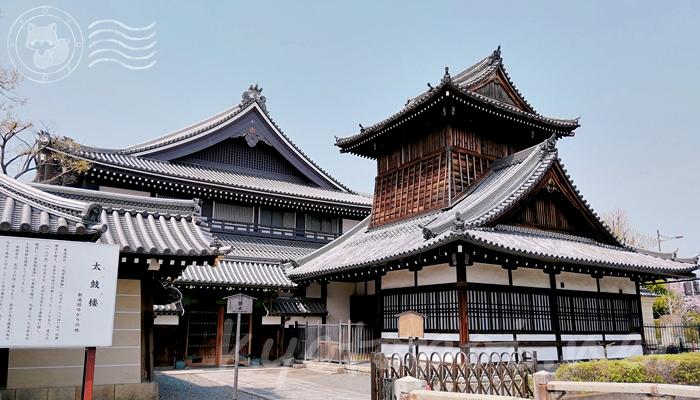 京都の世界遺産 西本願寺の太鼓楼