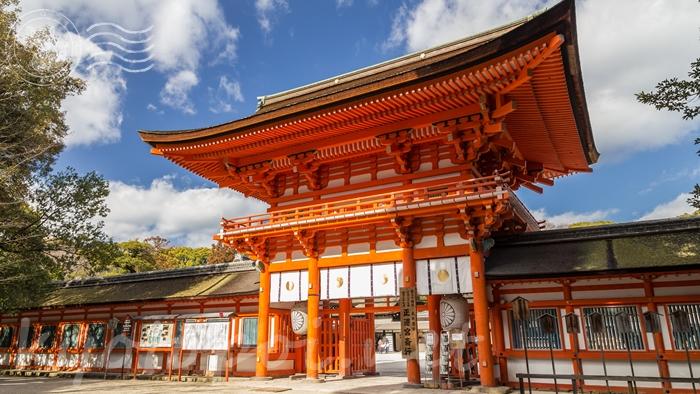 京都の世界遺産 下鴨神社(賀茂御祖神社)の楼門