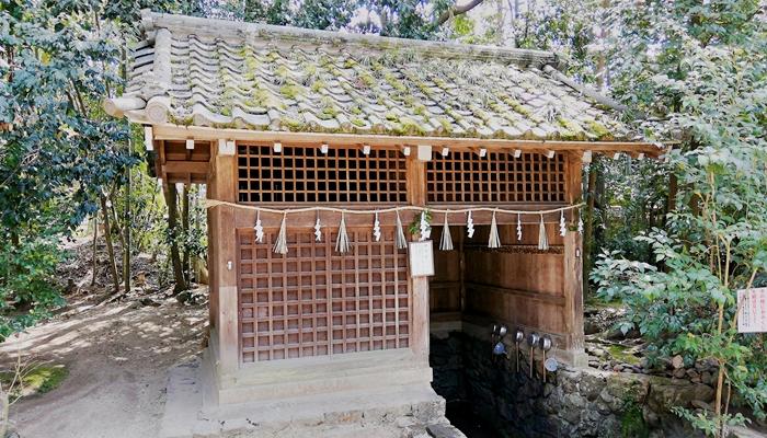 京都の世界遺産 宇治上神社の桐原水