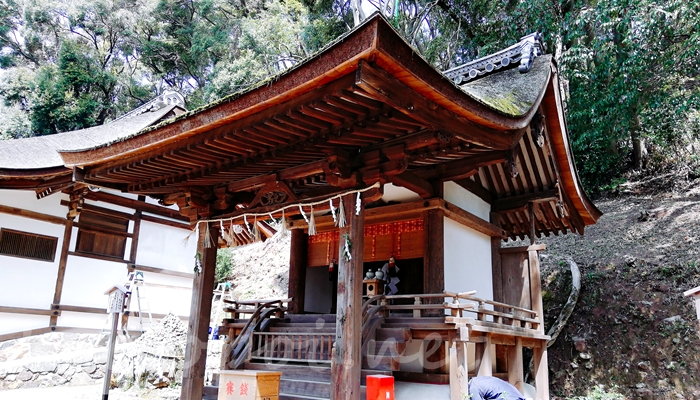 京都の世界遺産 宇治上神社の春日社