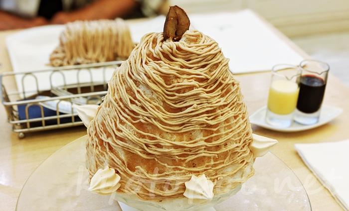 マールブランシュの夏季限定かき氷 北山本店「雪の菓モンブランかき氷」