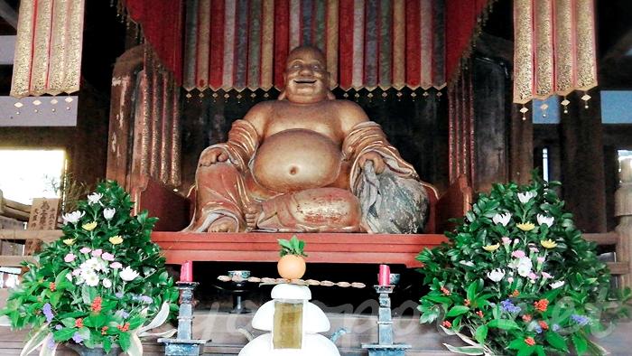 京都の宇治にある萬福寺 布袋尊