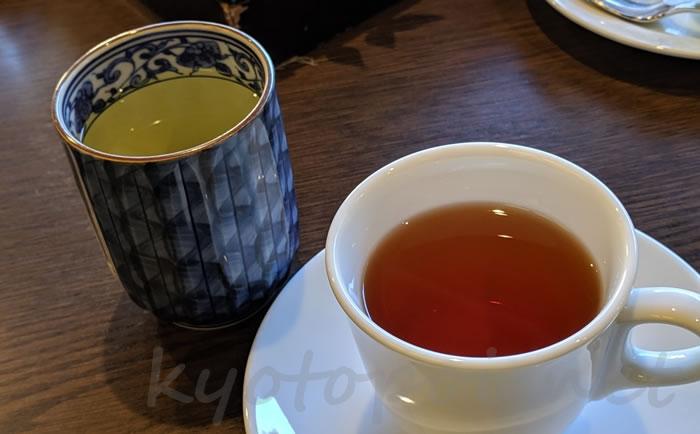南禅寺菊水のアフタヌーンティー 和紅茶と煎茶