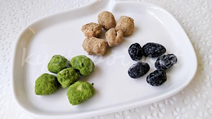 祇園祭のお菓子 北尾の豆しぼり、ぽりぽり、抹茶ぽりぽり