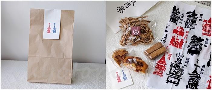 うめぞのカフェ&ギャラリーの祇園祭お菓子袋