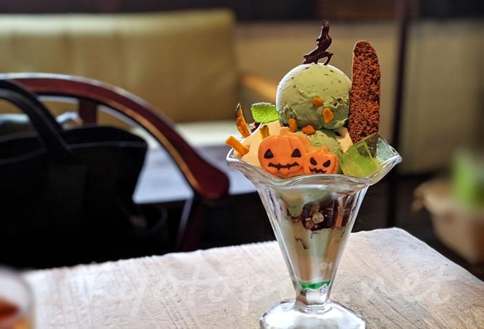 京都のカフェ1001 チョコミントパフェ