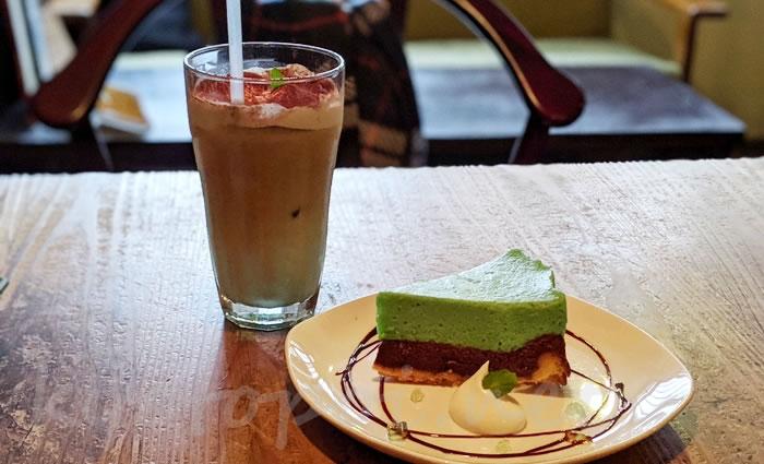 京都のカフェ1001 チョコミントスイーツ