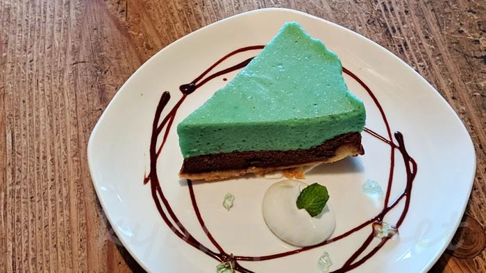 京都のカフェ1001 チョコミントタルト