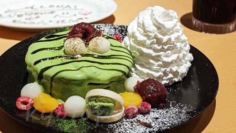 エッグスンシングス京都四条店限定の抹茶パンケーキ