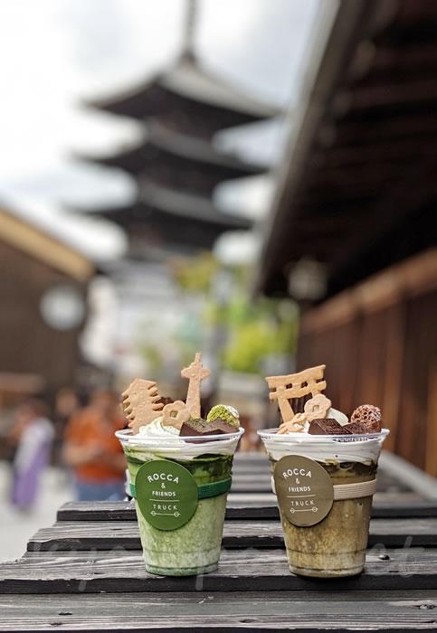 ロッカアンドフレンズトラック京都と八坂の塔