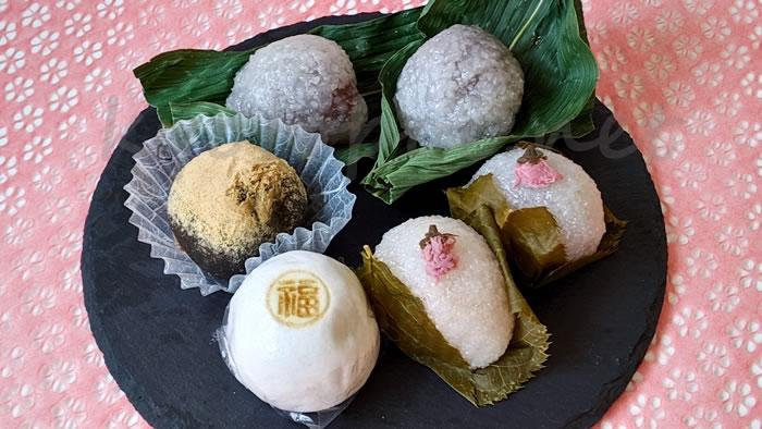 京都祇園にある福栄堂の和菓子