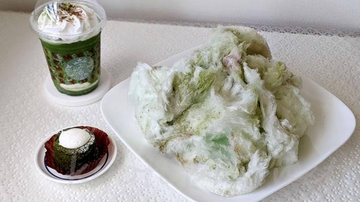 京都の綿菓子専門店zarameの抹茶金時味