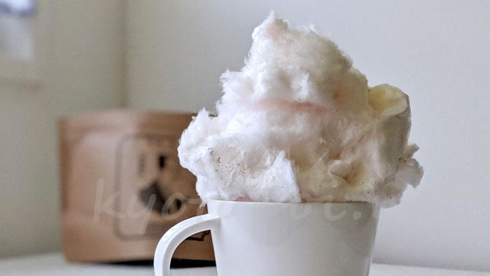 京都の綿菓子専門店zarameのカフェラテ味