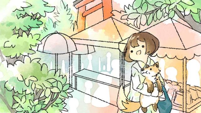 上賀茂神社の手作り市を巡る葵とマッチャ