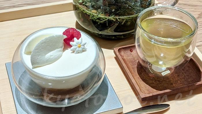 茶寮FUKUCHAのマスカルポーネクリームとリンゴのタタン