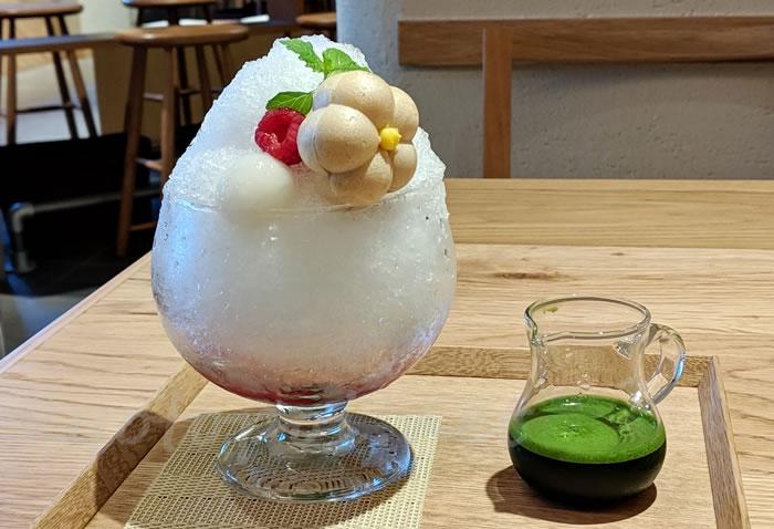 茶寮FUKUCHAの抹茶ベリーかき氷