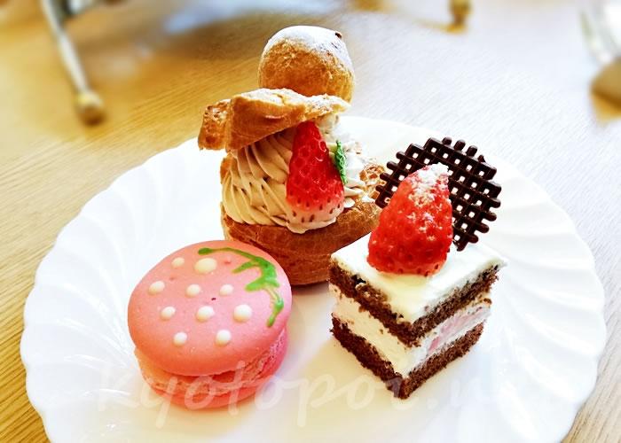 グランドプリンスホテル京都のアフタヌーンティー ケーキ・シュークリーム・マカロン
