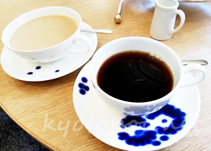 グランドプリンスホテル京都のアフタヌーンティー コーヒーとカフェオレ