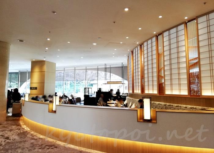 グランドプリンスホテル京都ロビーラウンジ水の音