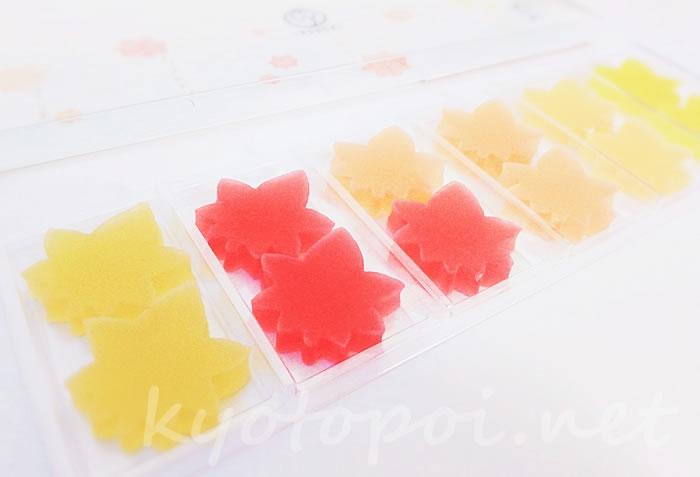 鶴屋吉信IRODORIの紅葉琥珀糖