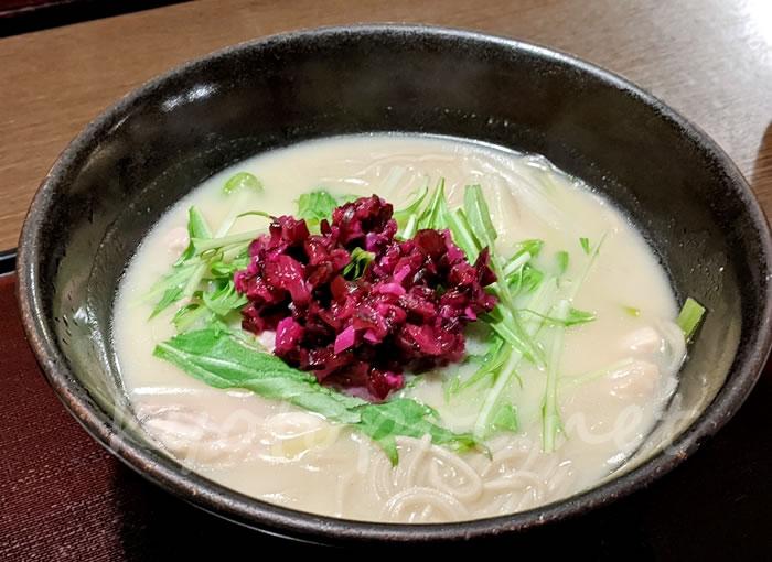 京都の蕎麦屋 本家田毎の京白味噌そば