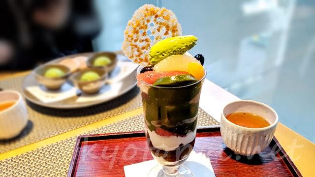 福寿園京都本店 京の茶寮「抹茶クリームパフェ」