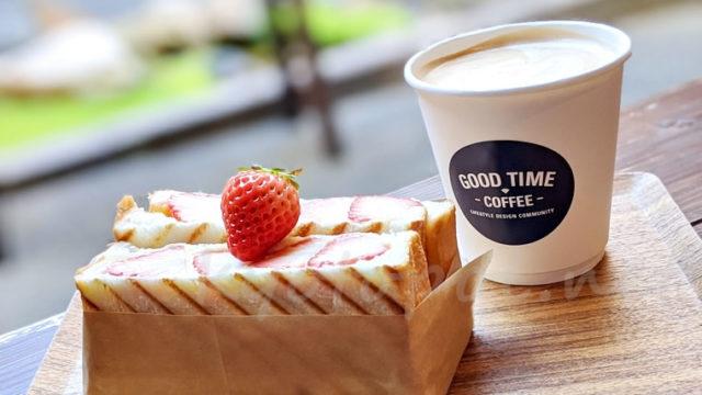 京都GOOD TIME COFFEE(グッドタイムコーヒー)いちごサンド