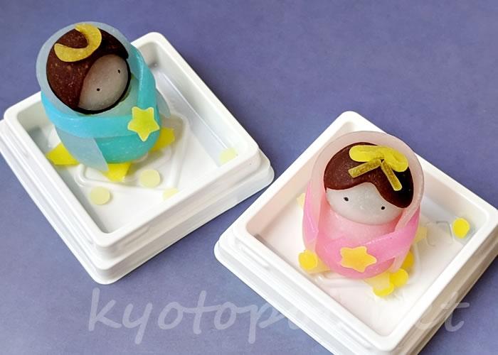 ニキニキ季節の生菓子 2020年7月の織姫と彦星