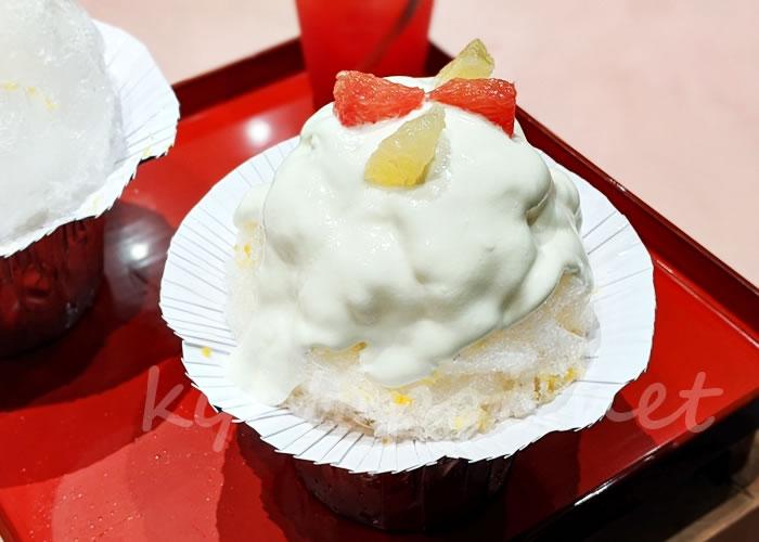 お茶と酒たすき 新風館店 7月の季節氷 グレープフルーツヨーグルト