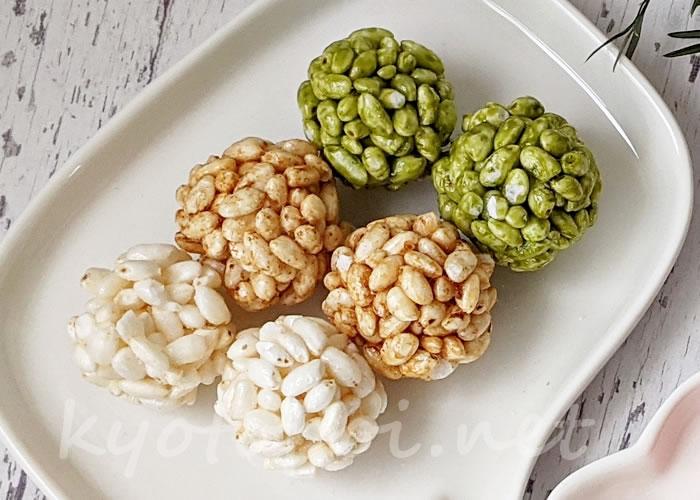 京都のわたがし屋zarameのオシャレなポン菓子「てまりポン 翠鞠」