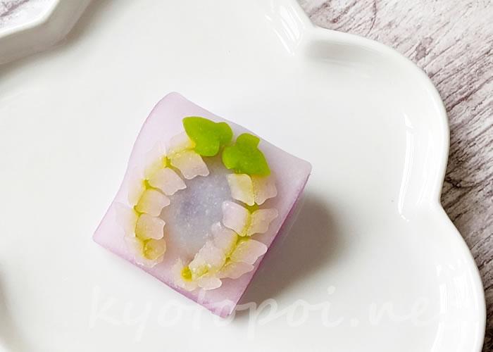 ニキニキ季節の生菓子 2021年5月「藤の花」