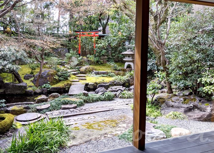 高台寺 cafe KawataRo(カフェかわたろう)日本庭園