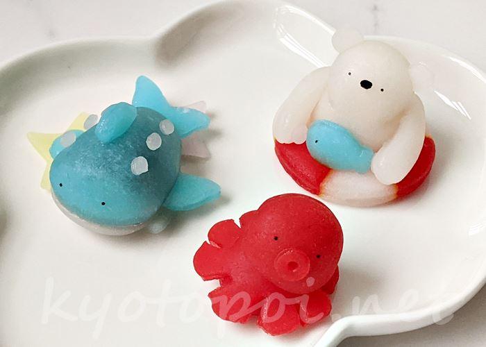 ニキニキ季節の生菓子 2021年8月 海の生物